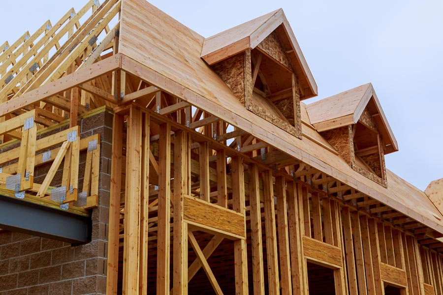 Specialized Business Insurance - Frame and Structure of a House Being Built in North Carolina